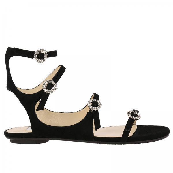 Choo Sandals Women Jimmy Flat BlackShoes Oy8mN0vwnP