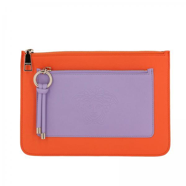 Clutch Women Versace Orange  a8dbcee0c9e21