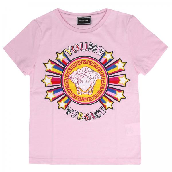9d4bc7307 Versace Young Little Girl's Pink T-shirt | T-shirt Kids Versace ...