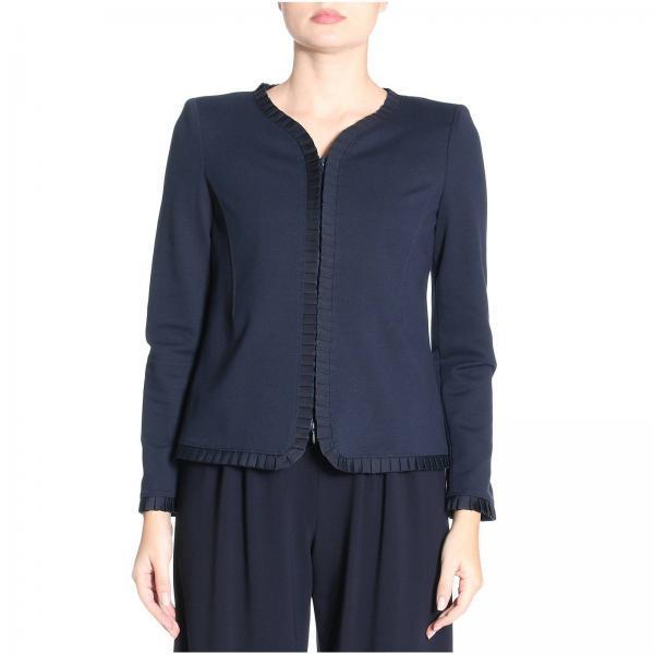 blazer f r damen emporio armani blau blazer giorgio. Black Bedroom Furniture Sets. Home Design Ideas