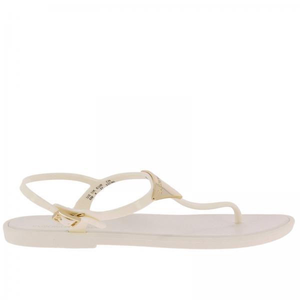 promo code 8c521 f4e36 Flache Sandalen für Damen Emporio Armani