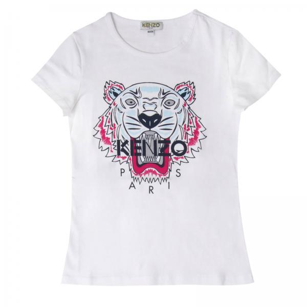 Kenzo Junior Little Girl s White T-shirt   T-shirt Kids Kenzo Junior ... 2be63607bab
