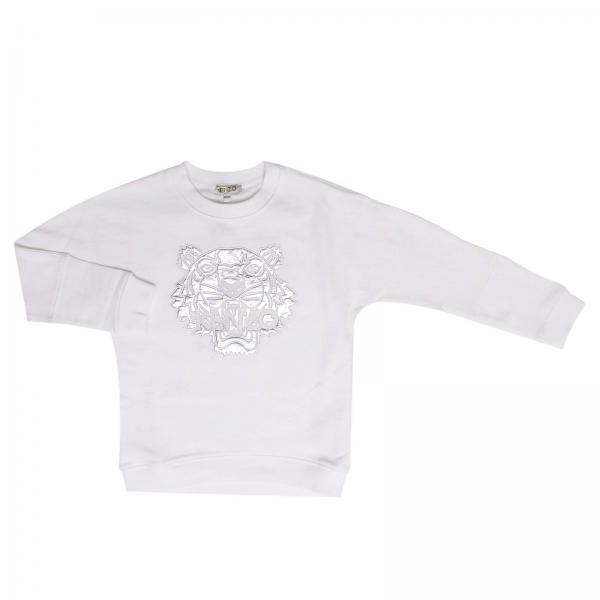 Kenzo Junior Little Girls White Sweater Sweater Kids Kenzo Junior