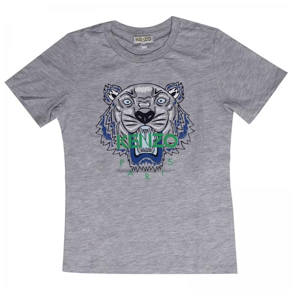 5d5495e192b3 Kenzo Junior Little Boy's Grey T-shirt | T-shirt Kids Kenzo Junior | Kenzo T -shirt Kl10528 - Giglio EN