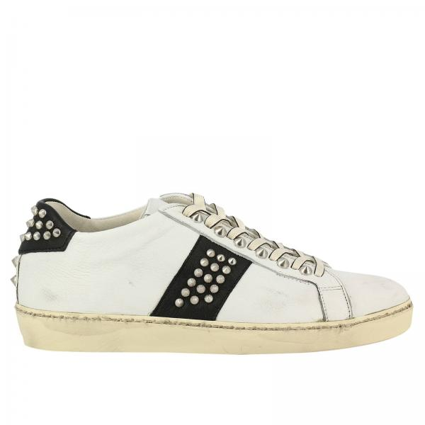Crown 1M Leather Uomo Sneakers Pelle In Iconic Bianco USzpVqM