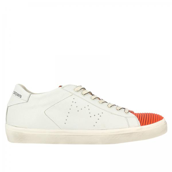 Blanc Crown Homme Baskets Leather Chaussures CqwHRfnX