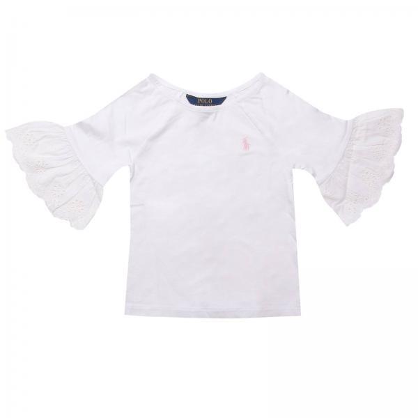 c7474b604af5a T-shirt Little Girl Polo Ralph Lauren Toddler White