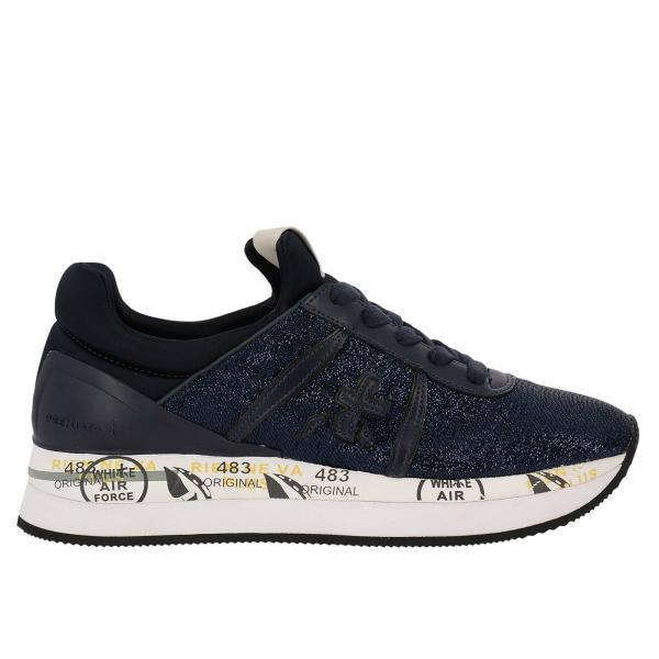 Sneakers liz in tessuto lurex raso e tallone laminato. € 221,00. Sneakers  Donna Premiata