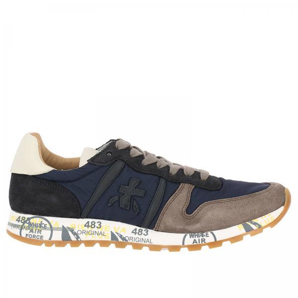 Sneakers eric in camoscio e nylon con suola in gomma stampata. € 205,00.  Sneakers Uomo Premiata