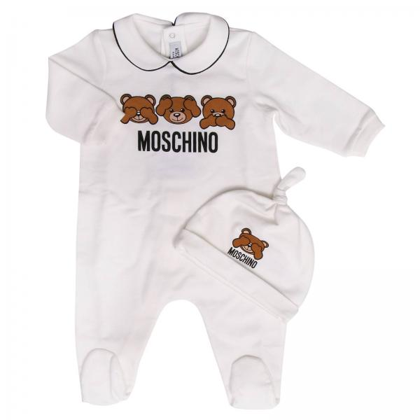 2731732658c8 Romper Baby Moschino Baby White