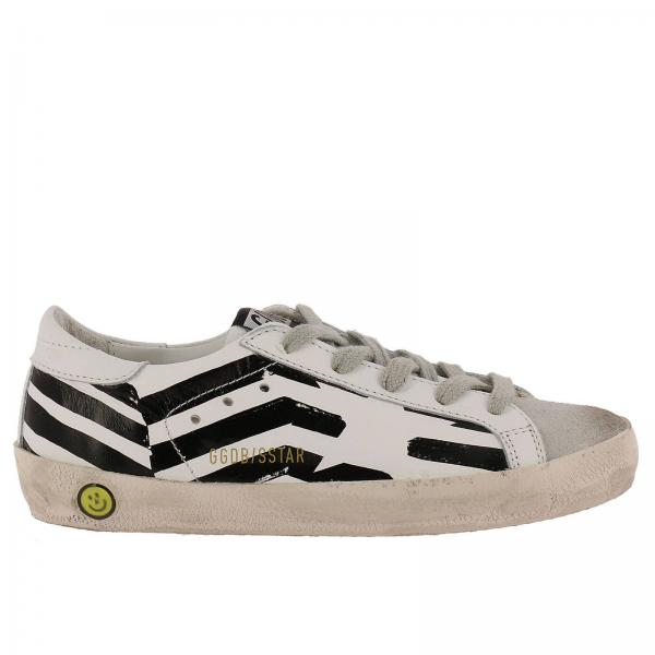 Scarpe bambino Golden Goose Bianco | Sneakers Superstar In Pelle Bicolor E Camoscio | Scarpe Golden Goose Gcoks301 . - Giglio IT