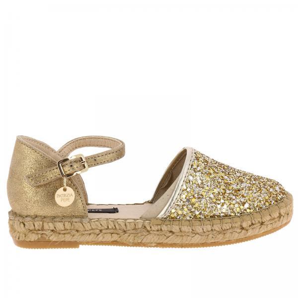 Oro Bambina Glitter Scarpe Patrizia Pepe Con Multi Espadrillas w6n8H4Bq