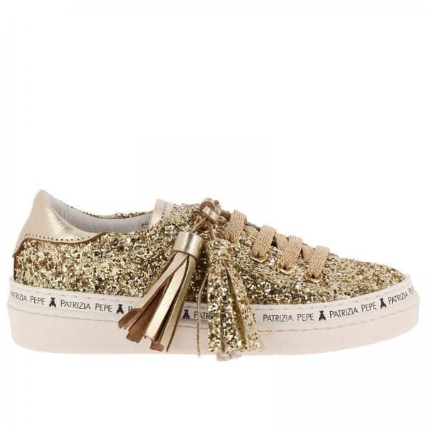 Patrizia Pepe Little Girl s Gold Shoes  6e4f4554256
