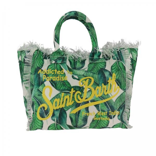 Handbag Mc2 Saint Barth VANITY BANANA LEAVES