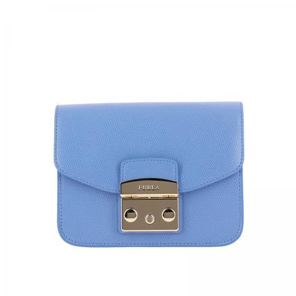 Main Porté À Femme Sac Épaule Bleu Mini Furla Ciel x05Ew7