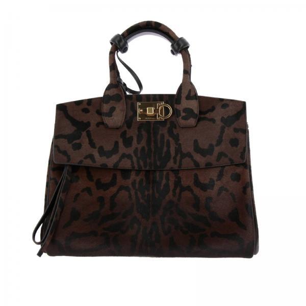 Salvatore Ferragamo Women s Brown Handbag   Shoulder Bag Women Salvatore  Ferragamo   Salvatore Ferragamo Handbag 696674 21h255 - Giglio EN e3d98e60cd