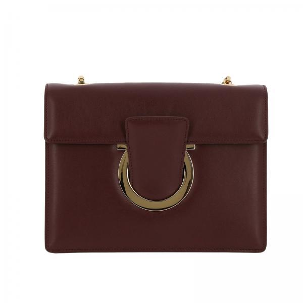 84eee5cfacb4 Salvatore Ferragamo Women s Burgundy Crossbody Bags