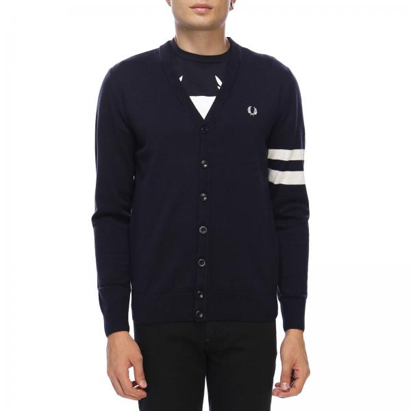 Fred Perry Mens Cardigan Sweater Men Fred Perry Fred Perry