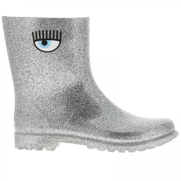 popular stores delicate colors website for discount Chiara Ferragni Women's Silver Flat Booties | Women's Flat Booties ...