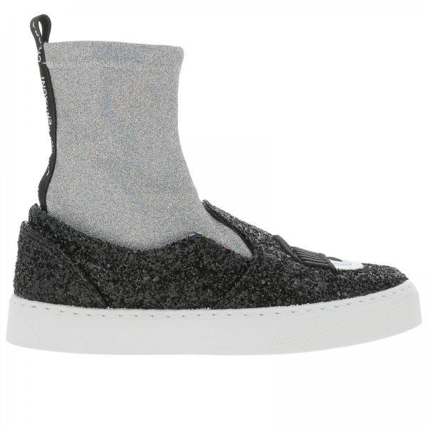 Ferragni Slip Slip Donna Sneakers Nero On Sock Sneakers A Chiara q7pPExwwX