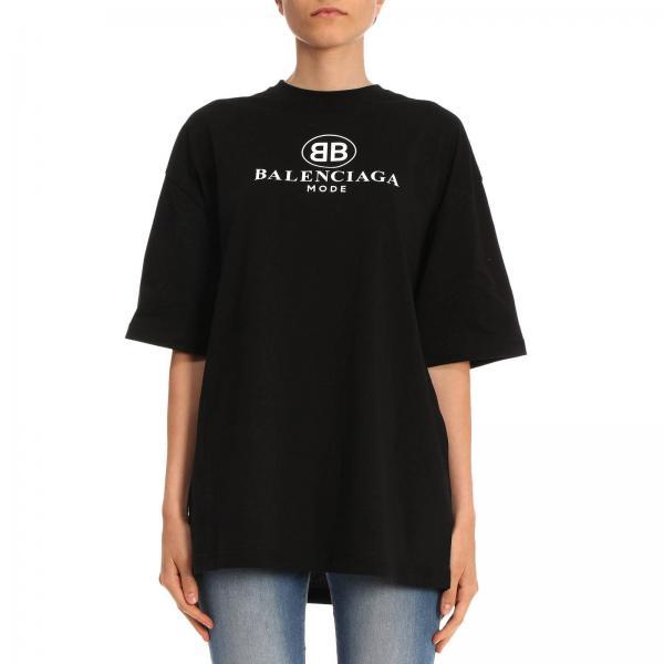 c007f77f Balenciaga Women's Black T-shirt   T-shirt Women Balenciaga   Balenciaga T- shirt 492258 Tyk23 - Giglio EN