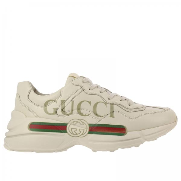 Baskets Homme Gucci Blanc   Chaussures Homme Gucci   Baskets Gucci 500877  Drw00 - Giglio FR b64d04e4092