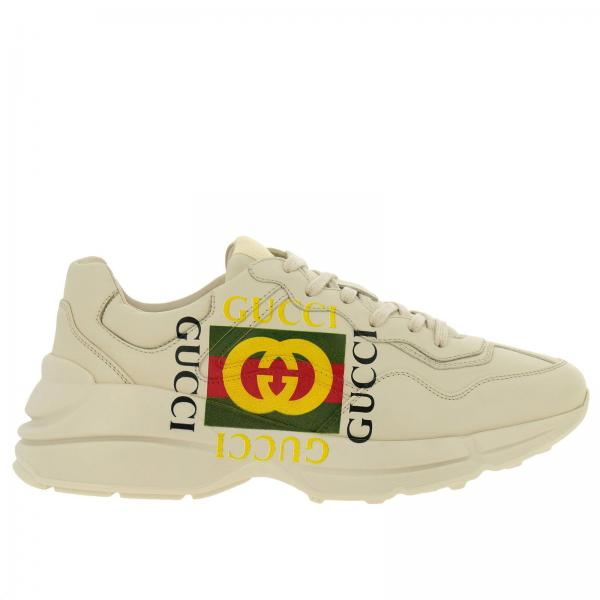 Baskets Homme Gucci Blanc   Chaussures Homme Gucci   Baskets Gucci 500878  Drw00 - Giglio FR 3b9abbac8bf