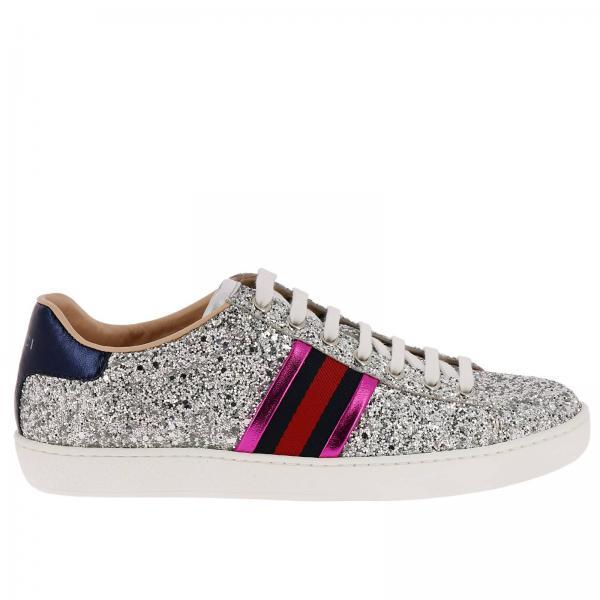 Gucci Women s Silver Sneakers  ab80f6efd