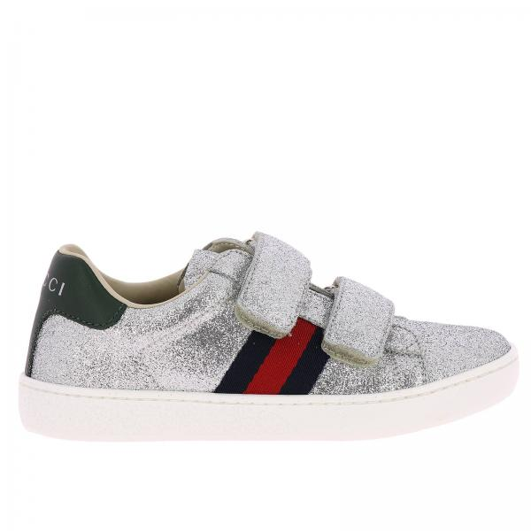 a57a86b674f Gucci Little Boy s Silver Shoes