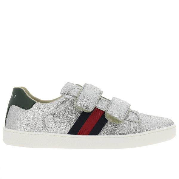 Chaussures garçon Gucci Argent   Chaussures Enfant Gucci   Chaussures Gucci  463091 Kusu0 - Giglio FR c298d8ae751