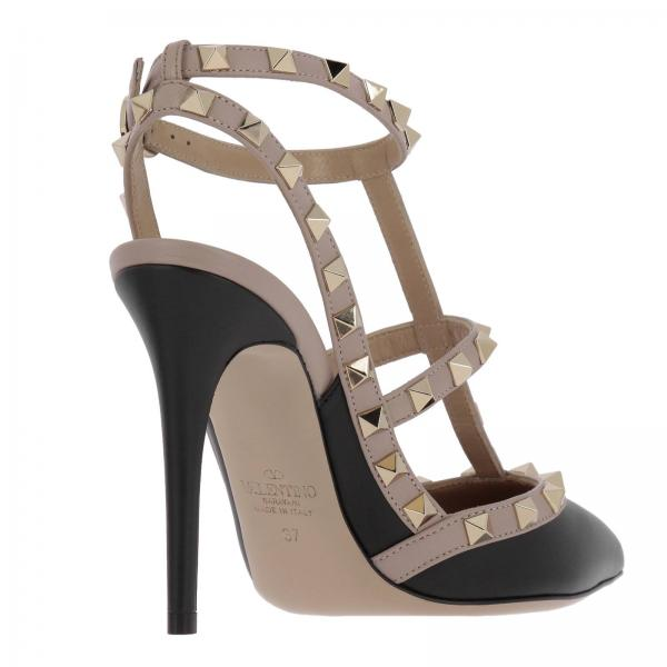 Strap Borchie Rockstud Liscia Ankle In Metalliche Pelle Con fYvIy76gbm