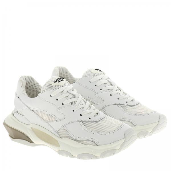 In E Sneakers Pelle Micro Rete Bounce 0wv8nmNO
