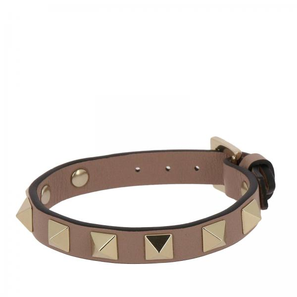 Valentino Rockstud Spikes bracelet in genuine leather with adjustable buckle