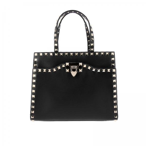 2fc708d96d Valentino Garavani Women's Black Handbag | Valentino Rockstud Bag In ...