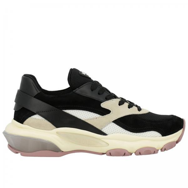 Traforato Sneakers Tecnico Camoscio Pelle Bounce Tessuto In Bicolor E mNw8n0