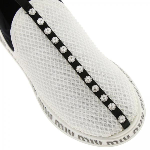 E Sneakers On Tecnico Slip Rete Con Cristalli Suola In Tessuto Logata TK1lFJc