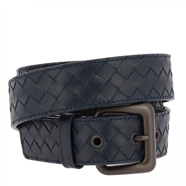 Woven Leather belt with classic buckle