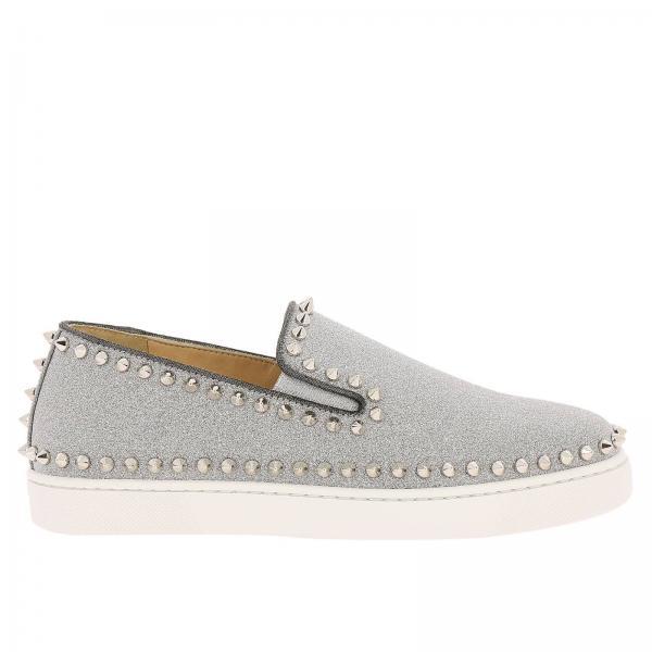 Christian Louboutin Women s Silver Sneakers  1be2e806a