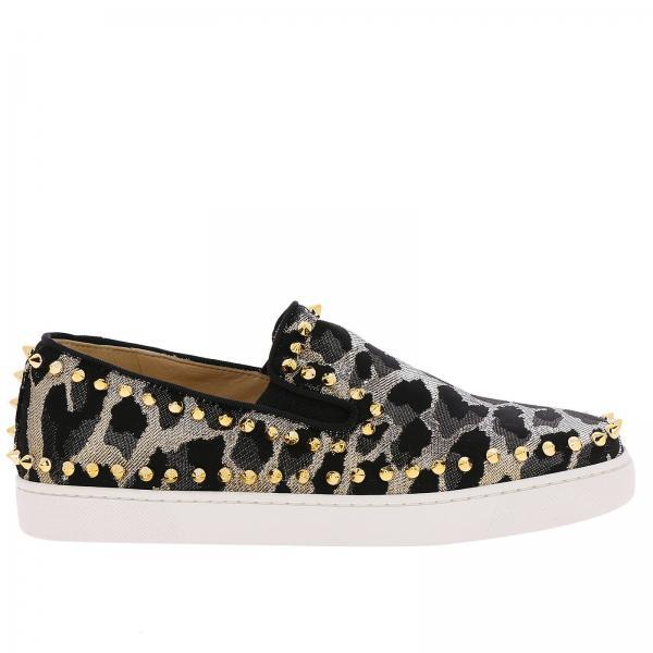 louboutin sneakers gold