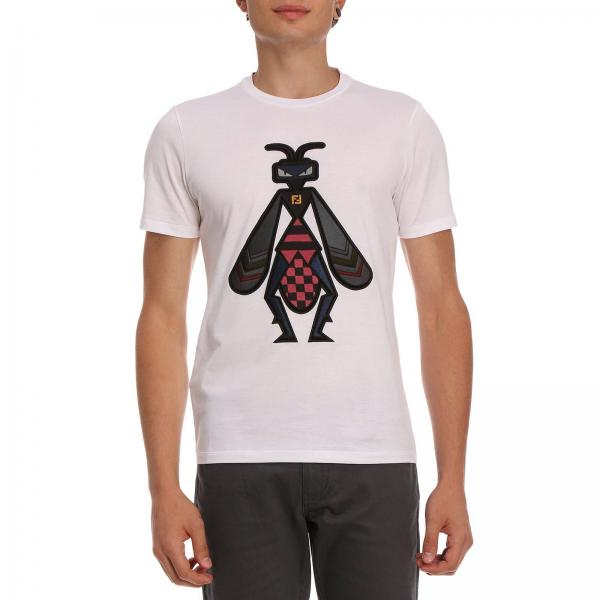 2bdd6d2b62a T-shirt Men Fendi White