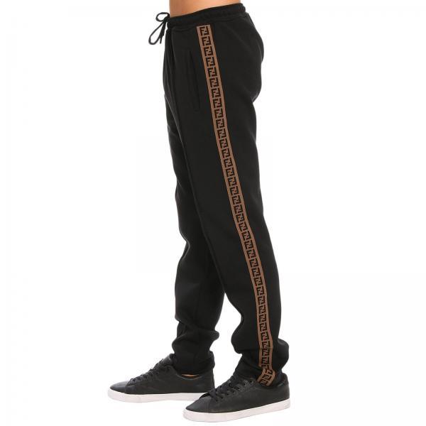 Negro Pantalón Fendi A4jogiglio Continuativo Artículo Hombre Fb0488 nBCBEO