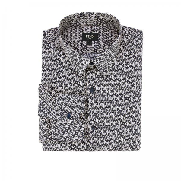 Ff Fendi Over All Con Camicia Micro Fantasia Cotone In UpSVMqz