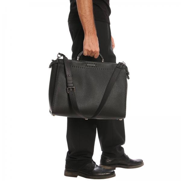 Artículo 7va388 Hombre Bolso Fendi Continuativo Negro X4kgiglio qxXqRvz