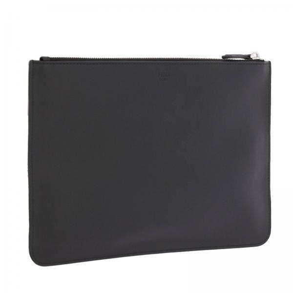 Con Uomo Bag Pelle Portadocumenti Eyes 7n0078 Liscia Metal Maxi Fendi Bugs Sqpf0gxn In NeroPochette LzMpqUVGS