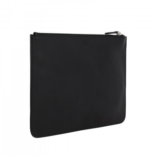 Liscia Bag 7n0078 Pelle Portadocumenti Fendi Con O76 Maxi Bugs Uomo NeroPochette Metal In Eyes R5jcLS34Aq