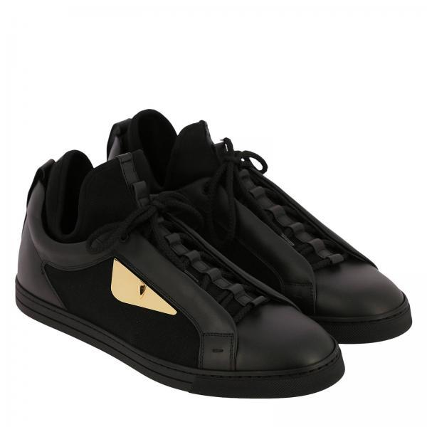 Pelle Bugs Vera Bag Con E In Maxi Stringata Calzino Tela Eyes Sneakers Metal Qrhdts