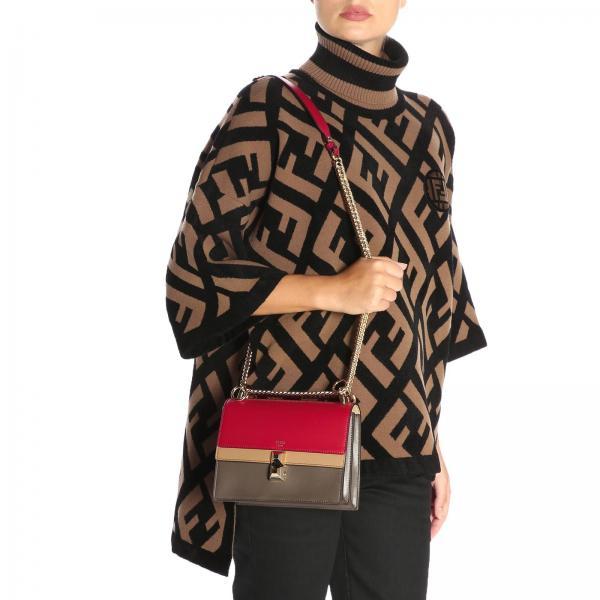 Borsa I FendiKan Donna Tricolor In Catena Vera 8m0381 A5av Con Tracolla Mini A Pelle Small Scorrevole 0OPk8nXw
