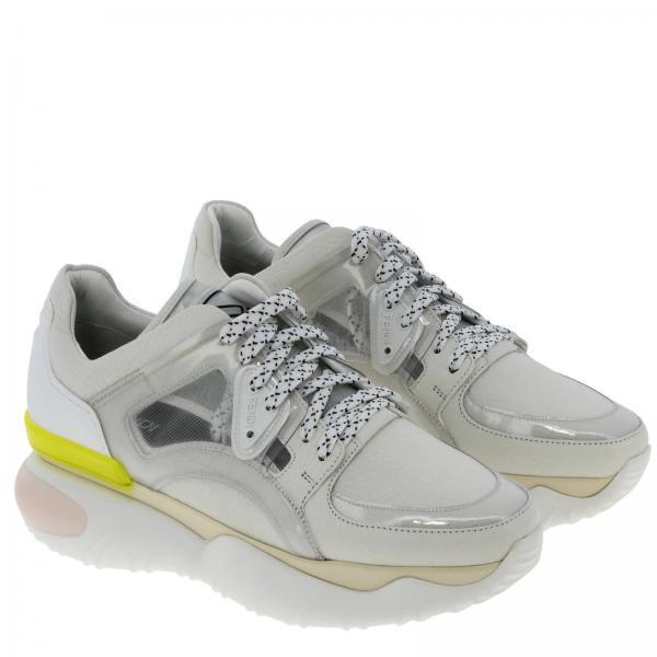 Martellata Stringata E Pvc Sneakers Pelle In Gomma 3LAj5Rc4q