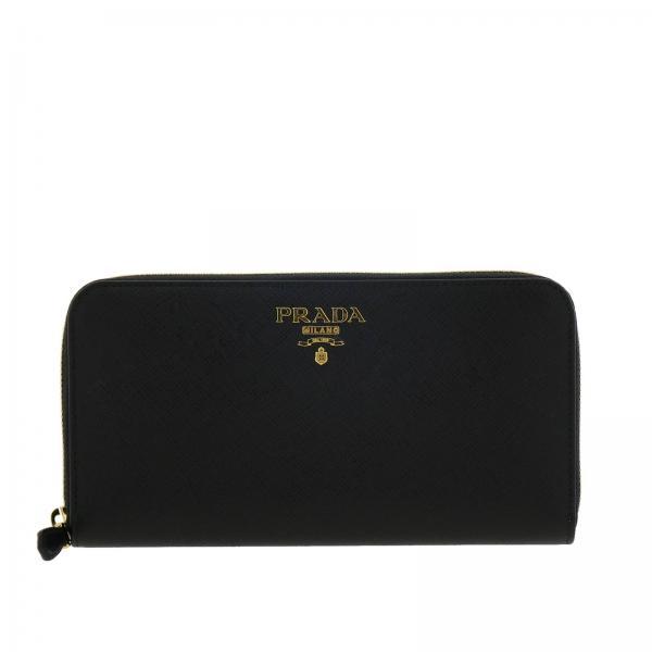 22227e5242 Portafoglio Donna Prada | Portafoglio Continentale In Pelle Saffiano Con  Logo Prada | Portafoglio Prada 1ml506 Qwa - Giglio IT