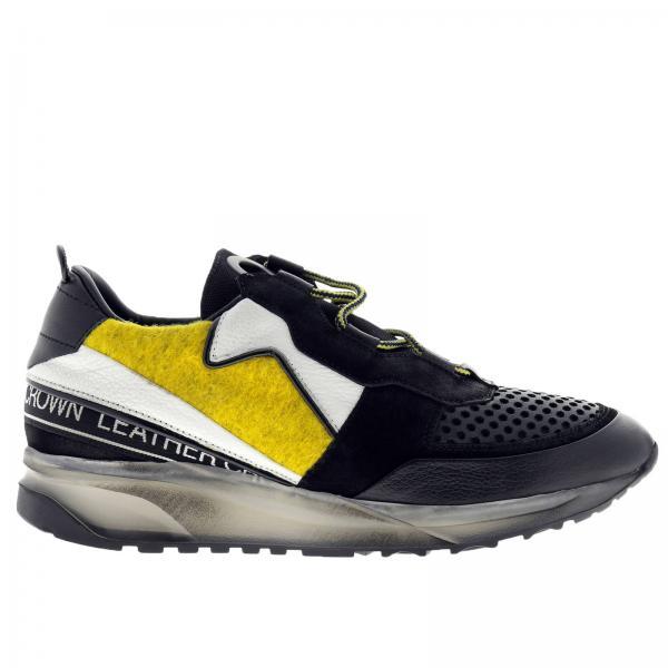 Sneakers Men Leather Crown Black 49a3df02269